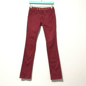 Rock Revival Women's Holly Straight Red Jeans 24